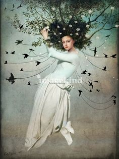 The Ideas are endless that fly and flow through my head...We are not obligated to follow all of them...A Concept of Defusion.(Art Catrin Welz-Stein)