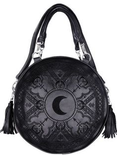 Restyle-Handtasche-Gothic-Mond-Henna-Tasche-Crescent-Moon-Sailor-90s-Witchy-Bag