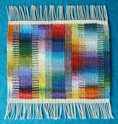 Helen Smith, work in the Weaving Tapestry on Little Looms online class with Rebecca Mezoff. www.tapestryweaving.com