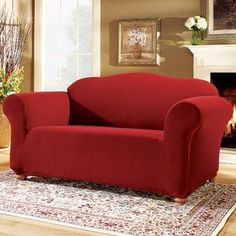 sure fit slipcovers stretch suede separate seat sofa couches pinterest oversized chair furniture covers and chair slipcovers