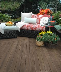 "Thompson's Water Seal products help make the deck beautiful so you want to show off your best ""deck-cessories."""
