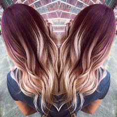 red ombre hair 2017