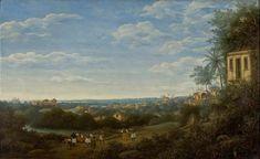 Landschap in Pernambuco met grote huizen 1665