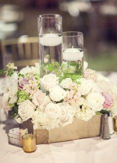 Wedding reception centerpiece idea; Featured Photographer: Three Nails Photography
