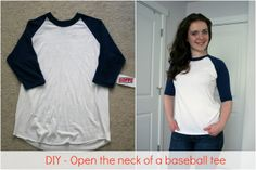 The classic baseball tee, but more flattering: a simple tutorial