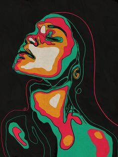 Original Portrait Painting by Juca Maximo Arte Pop, Pintura Hippie, Arte Inspo, Trippy Painting, Diy Canvas Art, Acrylic Paint On Canvas, Drawing On Canvas, Pop Art Drawing, Small Canvas Art