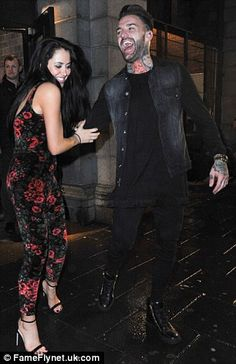Ooh er: Marnie Simpson and Aaron Chalmers were pictured getting close...