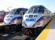 MARC Diesel Locomotives.