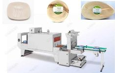 This shrinkage wrap machine for leaf plate consists of two parts: heat shrinking machine and sealing cutting machine. The cutlery shrink wrap machine adopts