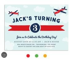 Printed airplane birthday party invitation perfect for an aviation printed airplane birthday party invitation perfect for an aviation birthday customize your colors 200 usd per invite min order 20 airplanes filmwisefo