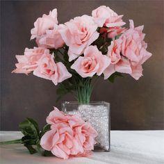 Silk Open Rose - Peach - 84/pk | eFavorMart
