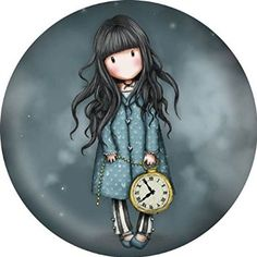 Santoro Gorjuss Round Button Refrigerator Locker Magnet of Girl Holding Clock, White Rabbit Design Cute Images, Cute Pictures, Clock Printable, Santoro London, Art Mignon, Holly Hobbie, Scrapbook Journal, Decoupage Paper, Digi Stamps