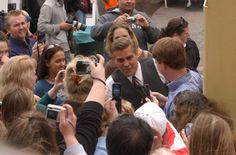 When I got to touch George Clooney's hand.... ahhhhh!