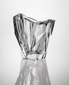 It's like jewelry for the home! Tapio Wirkkala, Jäävuori Iceberg Vase, 1955. Via Phillips.com