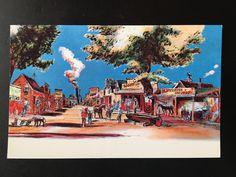 Vintage Disneyland Frontierland Postcard - Artists Concept Card by VintageDisneyana on Etsy