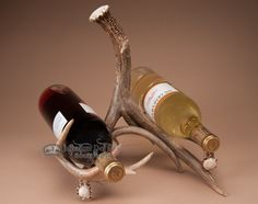 White Tail Deer Antler Double Wine Rack (ar7)