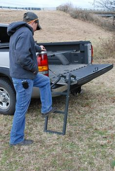 Pickup Truck Tailgate Step LadderEasily Removed Folds Out Of The Way Tailgate Ladder Tailgate Step by REL Stapleton Tailgate Step, Truck Tailgate, Truck Camping, Lifted Trucks, Chevy Trucks, Pickup Trucks, Chevy 4x4, Chevrolet Silverado, Gmc Suv