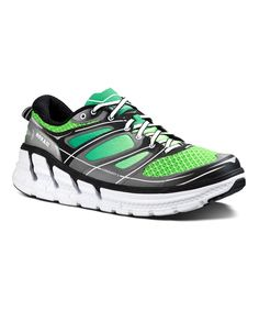 HOKA ONE ONE Black   Green Conquest 2 Running Shoe - Men a6017b5b4de