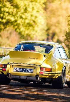 It's a YELLOW kind of day Porsche 911 Carrera RS #porsche - Yellow Car