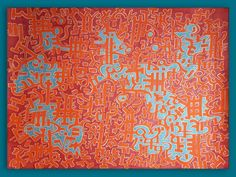 MAPOLLONIAN SCRIPT (CARTOGRAM) Mixed media on paper 70x100cm . . . . . #cyan #rubyred #abstractcalligraphy #mapart #arabesque #symbolism #expressive #intuitivepainting #lyrical #asemicwriting #visualpoetry #visualpoem #scribbling #cursive #flaming_abstracts #expressionism #avantgarde #abstractexpressionism #calligraphy #letteringart #map #abstractlandscape #artonpaper #zenart #harmony #calming Zen Art, Letter Art, Cursive, Arabesque, Abstract Landscape, Abstract Expressionism, Calming, Script, Paper Art