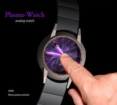 Plasma Ball Watch. Tokyoflash. I love unique watches - online shopping sites for watches, watches for men silver, mens branded watches *sponsored https://www.pinterest.com/watches_watch/ https://www.pinterest.com/explore/watches/ https://www.pinterest.com/watches_watch/ladies-watches/ http://wwd.com/accessories-news/watches/