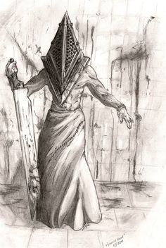 Pyramid Head by Doberlady on deviantART --- I can't decide if he looks relaxed or mid dance move
