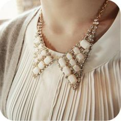 Mysterious Zinc Alloy Crystal Necklace for Women