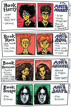Harry Potter Characters: Book vs. Movie