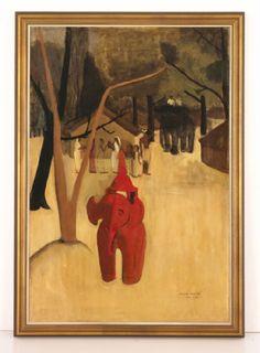 "Amrita Sher-Gil, ""Red Clay elephant""(1938)"