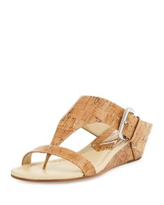 Doli Demi-Wedge Slide Sandal, Natural - Donald J Pliner
