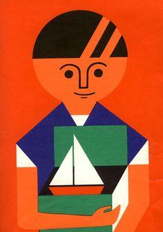 Fredun Shapur | The Christmas tree ✭ mid century children book ✭ vintage graphic design
