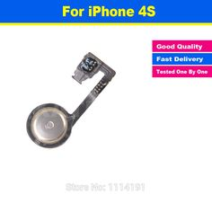 High Quality 100% Original Quality Replacement for iPhone 4S Parts Home Button Menu Return Flex Cable