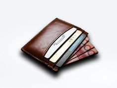 Items similar to Thin Card wallet , Minimal Wallet , credit card holder , Mens Leather Wallet , slim minimalist on Etsy