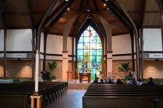 view from back of church - looking toward the altar
