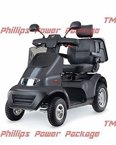 Afikim  Afiscooter S4  Full Size Mobility Scooter  4Wheel  Dark Grey  PHILLIPS POWER PACKAGE TM  TO 500 VALUE *** Locate the offer simply by clicking the VISIT button