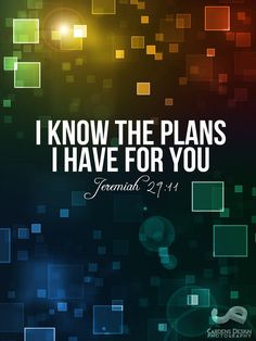 Jeremiah 29:11 ~ I know the plans I have for you...