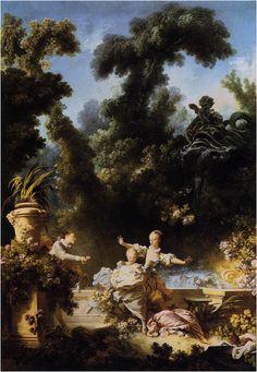 Il progresso dell'amore (2/4), 1771-1773, olio su tela, Pavillion de Musique, Louveciennes