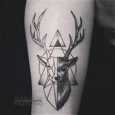 geometric moose tattoo - Google'da Ara Más