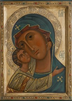 Icon of the Mother of God Igorevskaja in Icons of the Mother of God,by iconographers Philip Davydov and Olga Shalamova Religious Images, Religious Icons, Religious Art, Byzantine Icons, Byzantine Art, Paint Icon, Christian Artwork, Architecture Art Design, Russian Icons