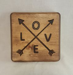 LOVE // Wood Burned Plaque by BrennenCo on Etsy