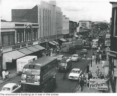 The Woolworth's building in West Ealing ,as it was in the sixties.