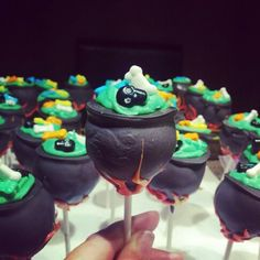 Cauldron cake pops with dollar store candy!