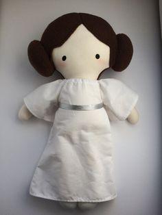 Princesa Leia - muñeca hecha a mano - tela muñeca - Geek muñeca - Star Wars - cultura Pop - Fangirl
