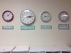 Times around the world - great idea for math and social studies. From Growing in 5th grade.