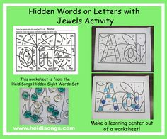 This is a great idea for the child that needs practice in visual discrimination, but dislikes coloring.  Simply give the child some clear or colored, but transparent jewels, and have him or her place the jewel on the target word or letter.