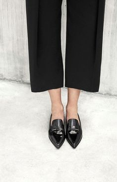 Shoe Crush: Black Patent Pointed Toe Loafers