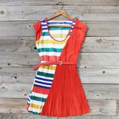 Song Bird Stripe Dress...too short without shorts underneath, but adorable just the same!