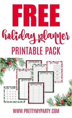 Get this Free Printable Holiday Planner Pack for an organized Christmas. Celebrate the holiday season with joy by eliminating all of the stress. Free Christmas Printables, Free Printables, Easy Christmas Decorations, Christmas Ideas, Holiday Ideas, Christmas Nativity, Christmas Crafts, Christmas Gift List, Christmas Time
