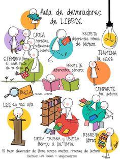 Samedi prochain: c'est Día del Libro en Espagne. Alors pour la fêter c'est l'occasion aussi de promouvoir la lecture auprès de nos chers élèves qui n'aiment pas forcément lire! Voici un doc que j'ai trouvé il y a quelque temps et qui vous aidera à travailler...