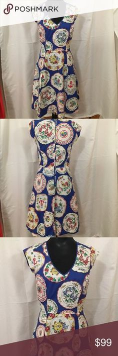 Selling this Boden Country Plate Print Dress UK 10R US 6R on Poshmark! My username is: lizabee05. #shopmycloset #poshmark #fashion #shopping #style #forsale #Boden #Dresses & Skirts